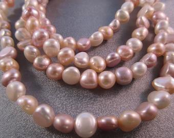 Multi Colors Freshwater Potato Pearl Beads 50pcs