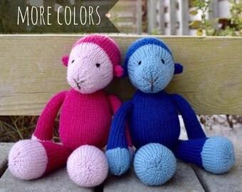 Monkey Stuffed Animal, Kids Gift Idea, Baby Gift, Stuffed Monkey, Handmade Toy, Wool Toy, Knit Toy, Plush Doll, Knit Stuffed Animal