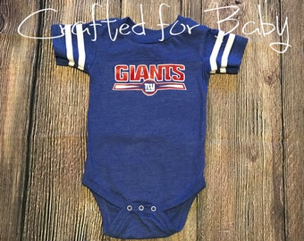 New York Giants Themed Bodysuit Onesie Baby Toddler Youth Adult Shirt