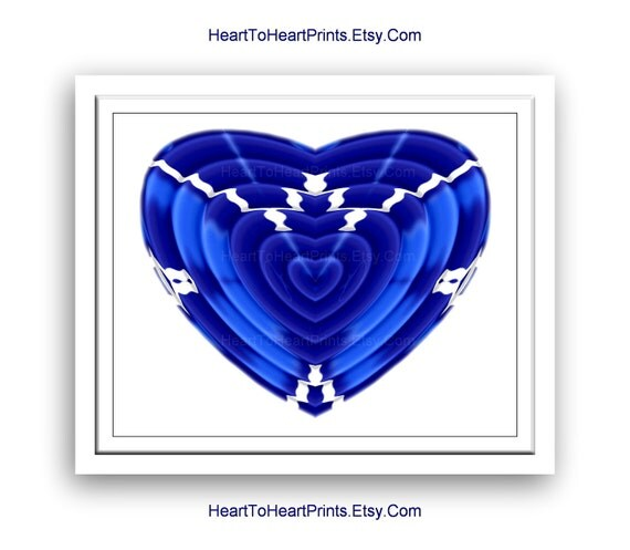 Cobalt Blue Wall Decor Heart Navy Blue Home Decor Royal Blue