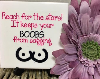decorative tile, funny decorative tile, cheeky decorative tile, naughty, cheeky, funny, quote tile, tiles, tile, inspirational quotes,