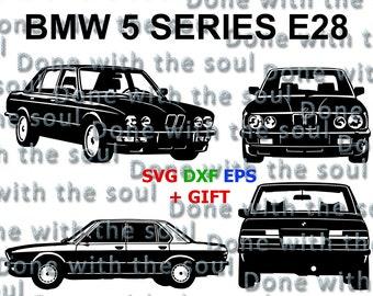 Bmw M5 - E28 – Car vector - Bmw digital - Car Cutting – Car svg - Bmw Download - Car Digital - Svg dxf eps - Car Download - Bmw vector