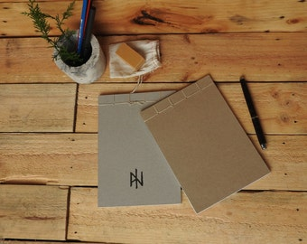 100% Recycled, Japanese Stab Binding Notepads [set of 2]