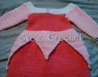 Baby Sleeping beauty crochet costume