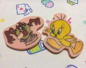 Vintage Looney Tunes Erasers: Tweety + Taz (1997)