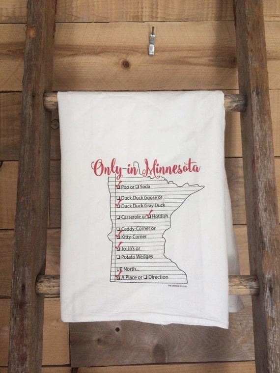 Gramma's Kitchen: Only in Minnesota Tea Towel
