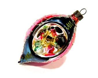 VINTAGE: Early Poland Indent Mercury Glass Ornaments - Christmas Ornament - (Tub-403-00007023)