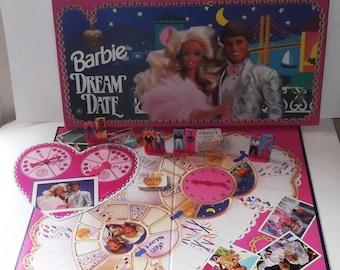 1992 Barbie Dream Date Board Game Near Mint condition