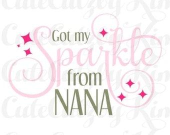 Got my sparkle from nana svg