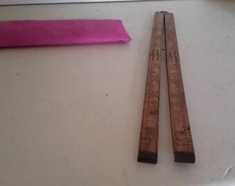 Vintage Stanley Boxwood Folding Ruler #68