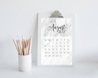Marble 2017 Calendar   Diary   Calendar   Year   Month   Organiser   Printable Calendar   Month to a page
