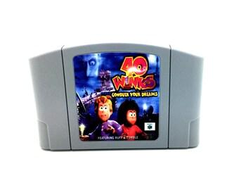 40 Winks Nintendo 64 game - Unreleased N64 Repro