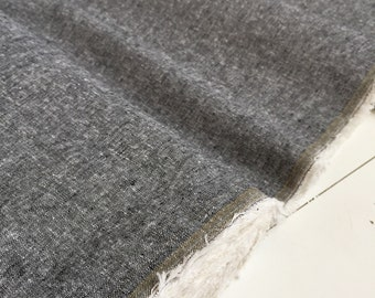 Yarn dyed BLACK linen