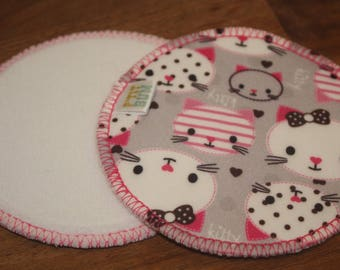 Pair of ready-to-go - cats - nursing pads