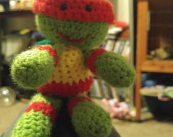 Hand Crocheted Teenage Mutant Ninja Turtles