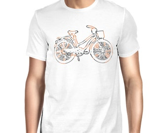 Bi-Colour Bicycle T-shirt
