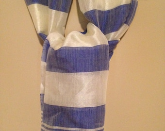 Hand woven cotton and silk blend scarf from Ethiopiaa