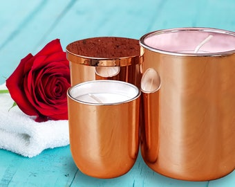 Mother's Day Rose Scented Rose Gold Large Jar Soy Candle 70h Burn Time