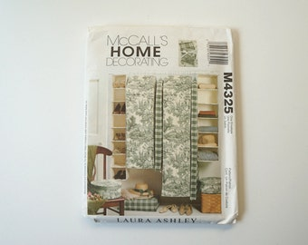 Uncut McCall's M4325 Home Decorating Laura Ashley Paper Sewing Pattern