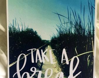Take A Break | Beach Boardwalk Photographed Print