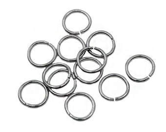 1000 pcs 8mm Silver Jump Ring | Antique Silver Jump Ring, 8mm Silver Jumpring, 8mm Jump Ring, Open Jump Ring, Brass Jump Ring