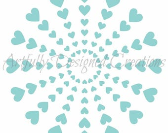 Heart Burst Stencil by Artfully Designed Creations