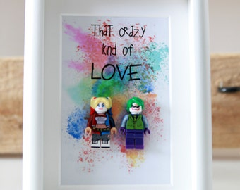 Harley quinn and joker  boyfriend girlfriend quirky birthday anniversary wedding present suicide squad gift