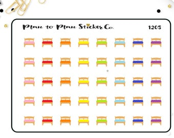 1205~~40 Bed Change The Sheets Planner Stickers.
