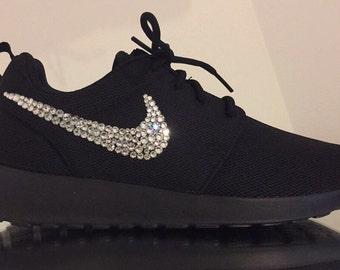 Youths black swarovski Nike Roshe