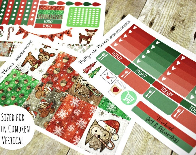 Happy Planner Stickers - Woodland Christmas - Christmas Planner Stickers - Erin Condren - Happy Planner -Day Designer - Functional stickers