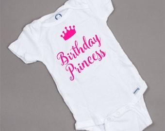 Birthday Princess Onesie, baby, girl,