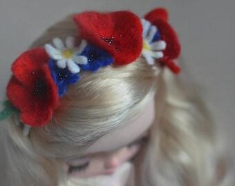 Blythe headband / Blythe hair accessories / Blythe floral headband