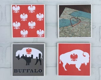 Buffalo Polish Themed Coasters