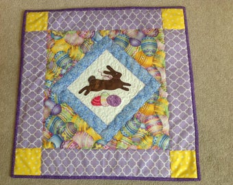 Easter Hand Applique Wall Hanging or Table Topper