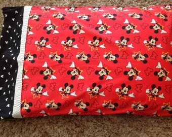 Mickey Mouse Pillow Case- Standard Pillow