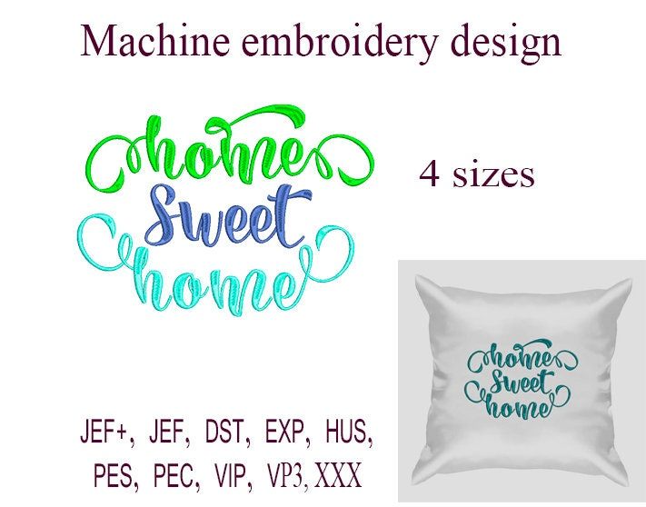 Home Sweet Home Machine Embroidery Designs Embroidery