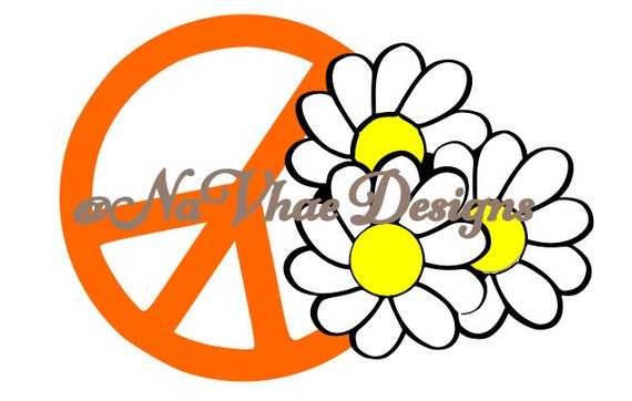 Svg Peace Sign With Daisy – Billy Knight