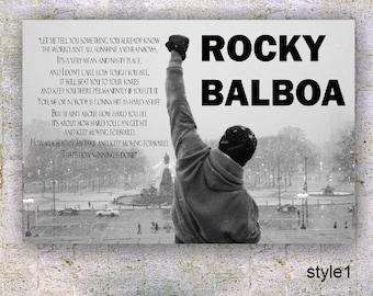 Rocky Balboa V2- Quote Poster