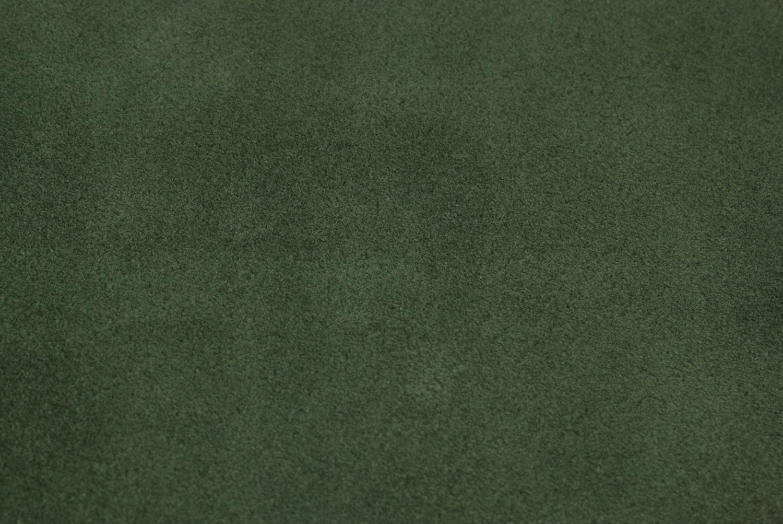 Dark green leather suede hide 140cm x 70cm german leder for Dark sage green color