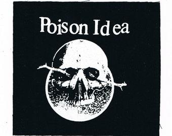 Poison Idea Punk Band Patch