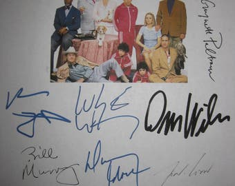 The Royal Tenenbaums Signed Film Movie Screenplay Script X11 Autograph Bill Murray Luke Owen Wilson Wes Anderson Gwyneth Paltrow Ben Stiller