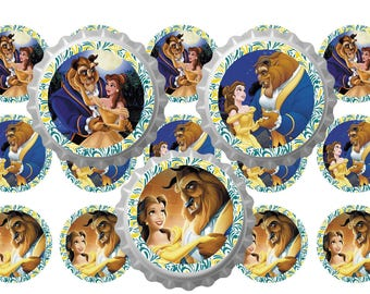 "BEAUTY and the beast 1 ""Download shots bottle caps 4 x 6 jpg file"""