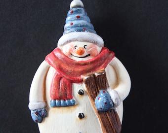 Christmas ornament, snowman ornament, Christmas snowman ornament, Xmas ornament, snowman