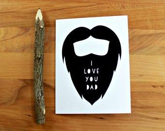 Beard Card for Dad, Father's Day Card, Beard Card, Card for Dad, Dad Birthday Card, I Like Your Beard, Dude Card, Card for Guy, Card for Man