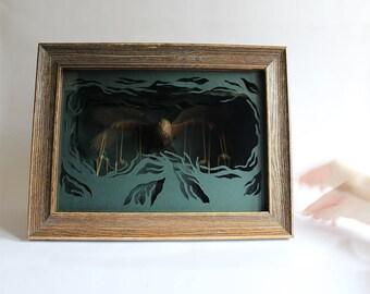Silent Predator. Kinetic Paper-cut Sculpture. 2016