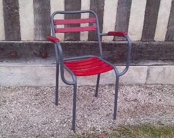 Garden chairs chairs redone nine metal galvanized with design arms Xavier Pauchard brand Tolix