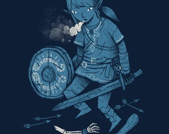 breath of the link zelda T-shirt / link shirt / the legend of zelda tee / breath of the wild botw / wii u nintendo switch /