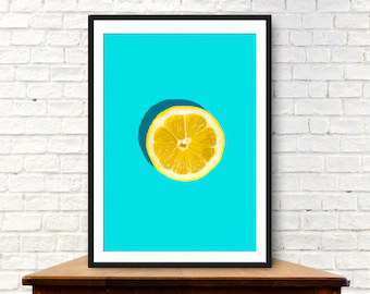 Fruit print, Fruit art, Lemon print,kitchen poster, kitchen prints, kitchen wall art, Kitchen photography,  kitchen art, kitchen wall decor