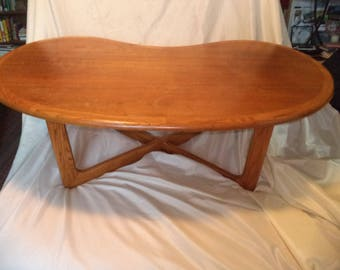 Mid Century Modern KIDNEY BEAN LANE COFFEee  Table