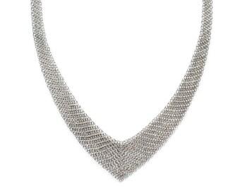 Authentic Tiffany & Co. Elsa Peretti Mesh Bib Necklace
